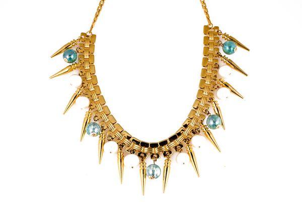 Gold Pearl bib necklace